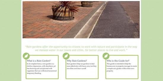 A fairly basic website design built for UK Rain Gardens information.