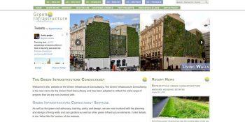 green infrastructure consultancy WordPress built website front page